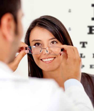 eyeglasses exam image with coupon
